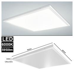 etc-shop LED Panel, LED Auf Einbau Panel Leuchte ALU Decken Lampe Büro weiß Beleuchtung Lampe SLIM