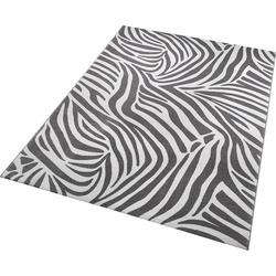 Teppich Zebra, Wecon home, rechteckig, Höhe 8 mm grau 120 cm x 170 cm x 8 mm