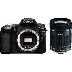 Canon EOS 90D EF-S 18-135mm f/3.5-5.6 IS USM NANO Spiegelreflexkamera (Canon EF-S 18-135mm f/3.5-5.6 IS, 32,5 MP, WLAN (Wi-Fi), Bluetooth)