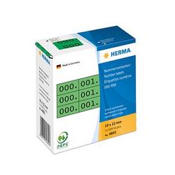 3x1.000 HERMA Klebenummern 4805 nummeriert von 0-999