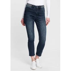 Freeman T. Porter 5-Pocket-Jeans Noemy mit dekorativen Nietenösen am Bund und der optimalen Passform für einen Knackpo L (40)