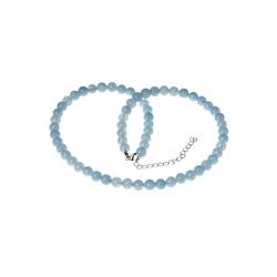 Bella Carina Perlenkette Aquamarin 6,5 mm, mit echten Aquamarin Perlen