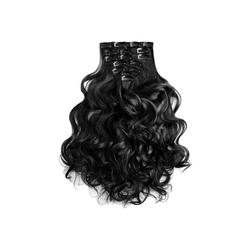 MyBeautyworld24 Haarclip Clip In Extensions Haarverlängerung Set – 7 Haarteile Extensions Haarverlängerung 60 cm schwarz