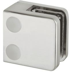 Häfele Glasklemme, Modell 21, für 38 mm, edelstahlfarben