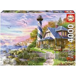 Educa Puzzle LEUCHTTURM AM ROCK BAY, 4000 Puzzleteile