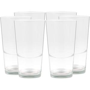 6er Set Latte Macchiato Blancho Glas - 39cl Kaffeeglas stapelbar ohne Dekor