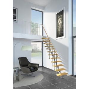 Dolle Systemtreppe Dublin, für Geschosshöhen bis 270 cm, Stufen offen