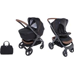 Kombi Kinderwagen Duo Stylego Up Crossover Wheels, Pure Black schwarz