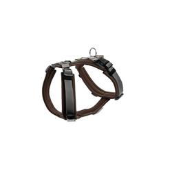 Hunter Hunde-Geschirr Maldon gepolstert, Mesh braun XXS - 34 cm - 49 cm