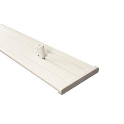 Gardinenschiene Alu 3 und 4-läufig weiß mit Deckenträger (Länge 120 cm)