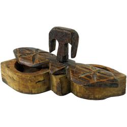 Guru-Shop Aufbewahrungsdose Antike Holzaufbewahrung, Holzschatulle, Holzbox..