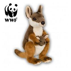 WWF Plüschfigur Plüschtier Känguru mit Baby (19cm)