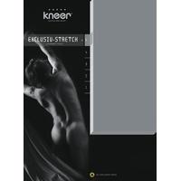 Kneer Spannbettlaken Exclusive-Stretch, Kneer optimaler Sitz beige 90-100 cm x 190-220 cm