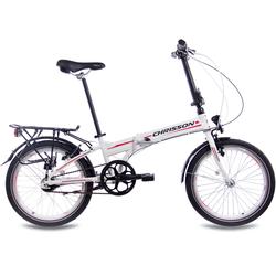 Chrisson Faltrad Foldrider 3.0, 7 Gang Shimano Nexus Schaltwerk, Nabenschaltung (1-tlg.) weiß Falträder Klappräder Fahrräder Zubehör Fahrrad