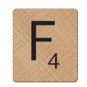 Scrabble Magnet, weiß, Holz, weiß, 0.9 x 3.7 x 4.2 cm