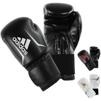 adidas Speed 50 Boxhandschuhe Schwarz/Weiß One Size