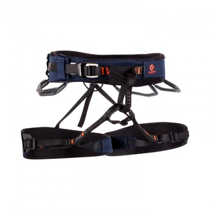 Mammut Klettergurt Comfort Knit Fast Adjust Harness Men, Marine-Safety Orange Gurtfarbe - Blau, Gurtgröße - L, Gurtart - Hüftgurt,