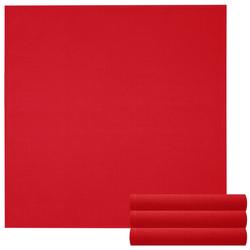 Lashuma Handtuch Set Küchentücher (Set, 4-tlg), Geschirrtuch 4er Set, Küchentücher Waffelpique 50 x 50 cm rot