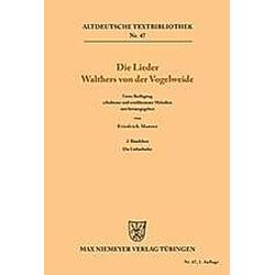 Die Lieder Walthers von der Vogelweide. Walther von der Vogelweide  - Buch