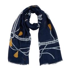 TOSH Schal mit maritimem Muster blau