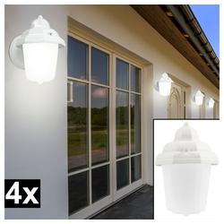 etc-shop LED Laterne, 4er Set Wand Leuchten Außen Beleuchtungen Lampe Licht Laterne Glas satiniert