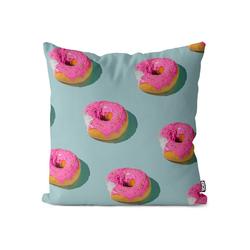 Kissenbezug, VOID (1 Stück), Pink Donut Party Kissenbezug Doughnut Cupcake Einhorn Süßigkeiten Donuts Süß 50 cm x 50 cm