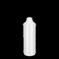 500 ml Rundflasche PCR - natur - DIN 28
