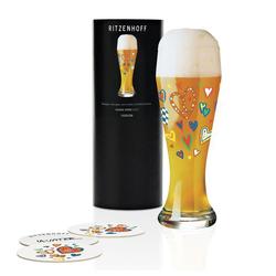Ritzenhoff Bierglas Weizenbierglas Ulrike Vater 500 ml, Kristallglas weiß