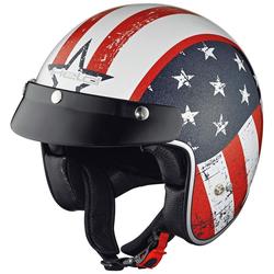 Held Black Bob Jet helm vlag ontwerp, wit, S