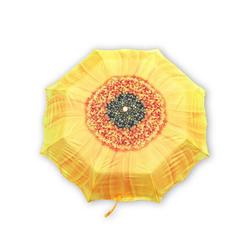 Mars & More Stockregenschirm Mars & More Taschen-Regenschirm BLUME gelb