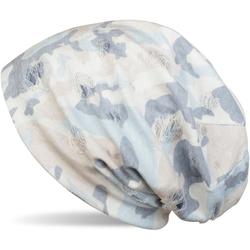 styleBREAKER Beanie Beanie mit Camouflage Muster Beanie mit Camouflage Muster weiß