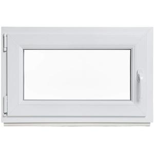 Fenster WOHNRAUM Kunststoff Kunststofffenster Doppelverglasung Dreh Kipp LAGERWARE 80x80cm / 800x800mm DIN Links (Griff Rechts)