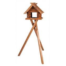 TRIXIE Vogelhaus Blockbohlen, BxTxH: 47x36x140 cm, mit Standbein braun