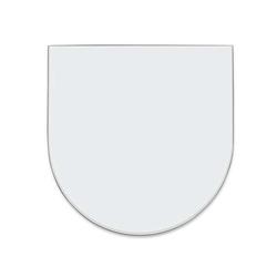 Funkenschutzplatte Glas Rundbogen 130 x 120 x 0,8 cm