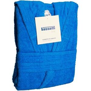 Bassetti Time Bademantel mit Kapuze, Unisex, erhältlich in den Größen S, M, L, XL, XXL, Material: Mikrofrottee aus 100 % Baumwolle, 360 g/m2 XXL - 58 / 60 AZZURRO - 1365