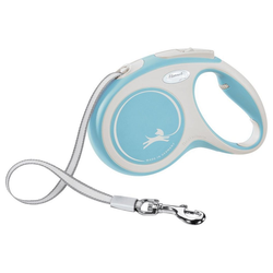 flexi Flexileine New Comfort Gurt, Kunststoff blau M - 4 cm x 5 m