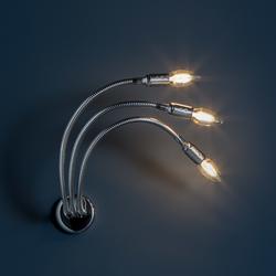 Turciù 3 Wandleuchte - Nickel / 3 x LED