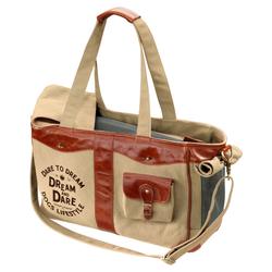 D&D Hundetasche Lifestyle Luxury Bag Dream raw/sienna