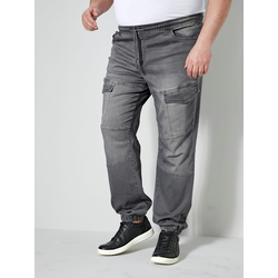 Cargo-Jog Denim Men Plus Grey
