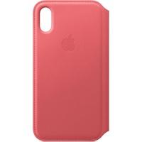 Apple iPhone XS Leather Folio Pink