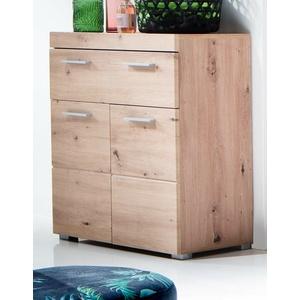Badschrank Kommode Eiche Asteiche Unterschrank 73x 80 cm Badezimmer Möbel Amanda