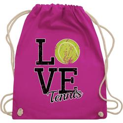 Shirtracer Turnbeutel Love Tennis - Tennis - Turnbeutel rosa