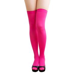 Overknee Strümpfe Sexy Strumpfhose halterlos Karneval Party - pink
