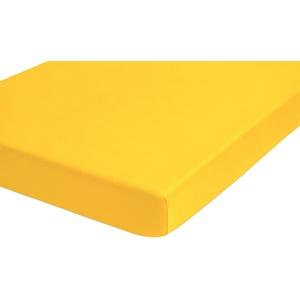 biberna 0077641 Jersey-Elastic Topper Spannbetttuch (Topperhöhe 8-12 cm) (Baumwolle/Elasthan) 180x200 cm-> 200x220 cm, individuell gelb