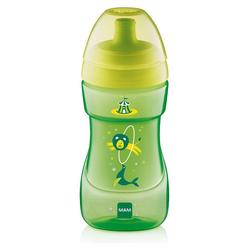 MAM Trinkflasche Trinkflasche Sports Cup, PP, 330 ml, grün/gelb grün