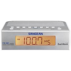 Sangean Atomic 5 Radiowecker UKW, MW AUX Silber, Weiß