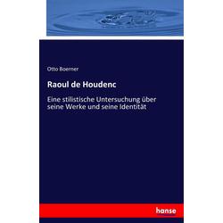 Raoul de Houdenc als Buch von Otto Boerner
