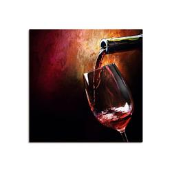 Artland Wandbild Wein - Rotwein, Getränke (1 Stück) 50 cm x 50 cm