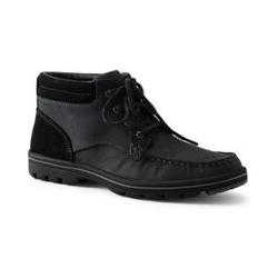 Komfort-Schnürstiefel - 45 - Schwarz