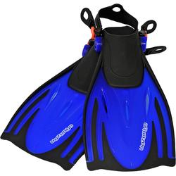 AQUAZON Flosse AQUAZON ALICANTE Verstellbare Flossen, Schnorchelflossen, Taucherflossen, Schwimmflossen für Kinder und Erwachsene zum Schnorcheln, Schwimmen blau 42/45